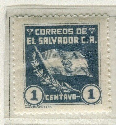 EL SALVADOR;  1935 early Flag issue fine Mint hinged 1c. value