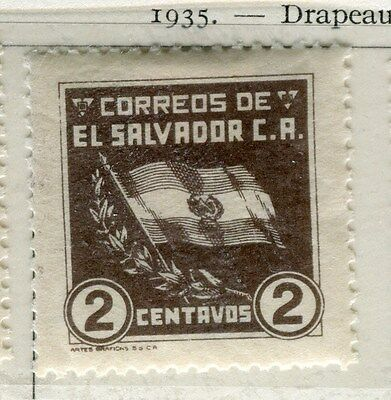 EL SALVADOR;  1935 early Flag issue fine Mint hinged 2c. value