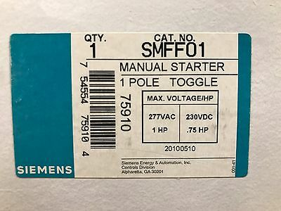 Siemens SMFF01 Manual Starter ** New In Box, Free Shipping **