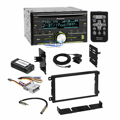 Pioneer Car CD USB Sirius Xm Stereo Dash Kit Harness for 2000-up GM Chevrolet