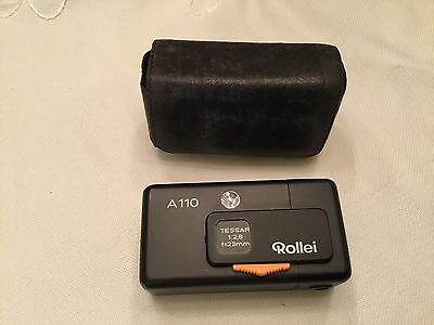 Rollei, A110 Mini Camera With Leather Case
