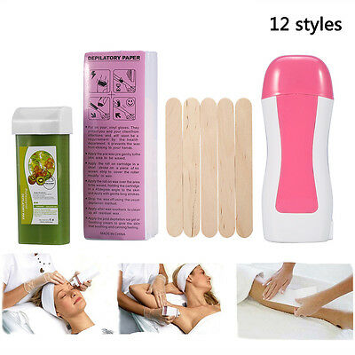 Roll-On Refillable Hot Depilatory Heater Wax Waxing Hair Removal Body Skin Care