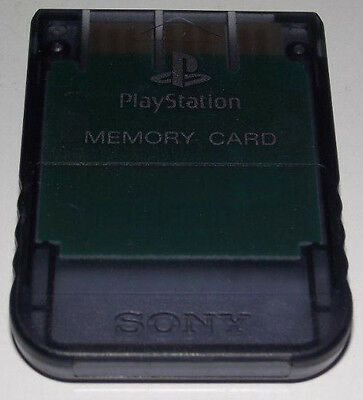 Clear Smoke Genuine Sony PS1 Memory Card PlayStation 1 1MB