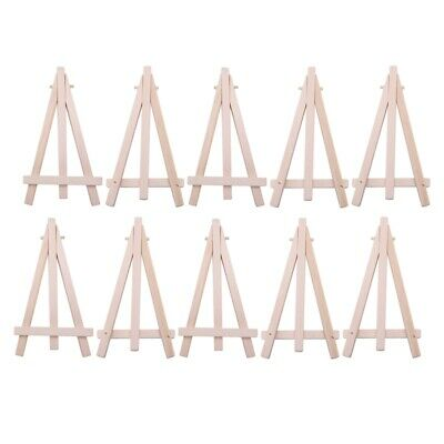 10 Mini Wooden Cafe Table Number Easel Wedding Place Name Card Holder Stand D7C7