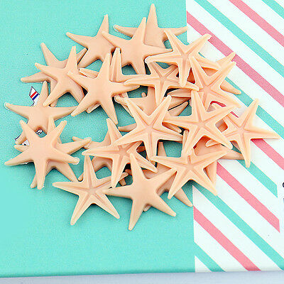 50X Artificial Starfish Sea Star Shell Wedding Crafts DIY Fish Tank Miniature