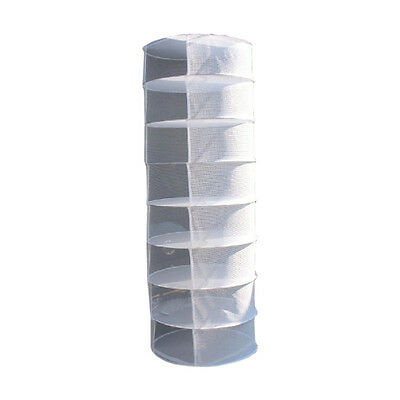 8 Layer Tier Collapsable Hydroponics Herb Dry Net Plant Drying Rack - M006