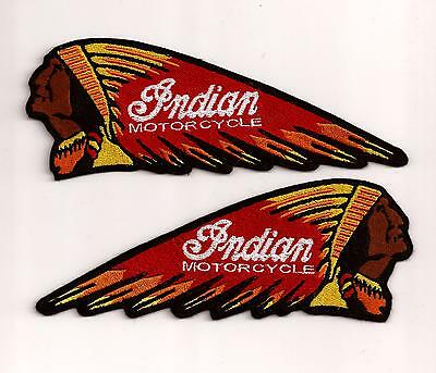 Set Aufnäher / Patch INDIAN MOTORCYCLE CHIEF 17,8 X 6,5 CM ROT GELB
