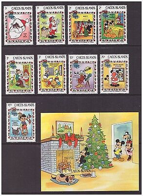 Caicos Islands 1983 Christmas Animation Walt Disney set  sheet  MNH mint stamps