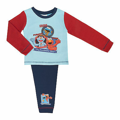 Boys Furchester Hotel Pyjama Set Featuring Elmo, Cookie Monster and Furgus