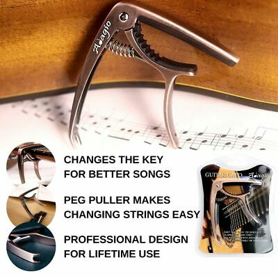 Adagio Pro Guitar CAPO For Acoustic & Electric Retail Packed Bronze RRP £10.99