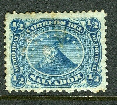 EL SALVADOR;  1867 early classic issue used 1/2c. value