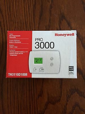 New HONEYWELL PRO 3000 NON PROGRAMMABLE THERMOSTAT
