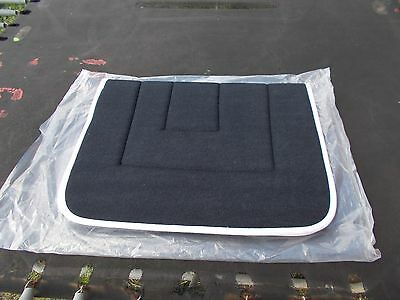 """*** Saddle Blanket - Polyester Black Terry Towelling - 22"""" New *** 8"""