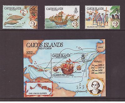 Caicos Islands 1984 Discovery of America by Columbus  set  MNH mint stamps