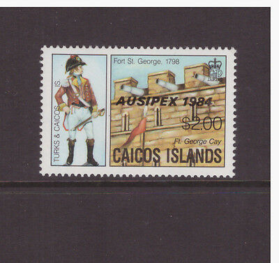 Caicos Islands 1984  Stamp Exhibition  Overprinted  set  MNH mint stamps