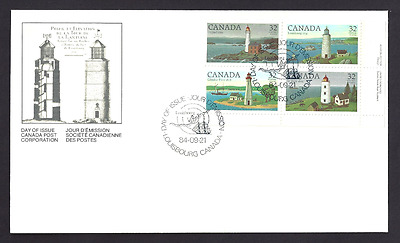 Canada  FDC  # 1032-1035 LRpb    CANADIAN LIGHTHOUSES     1084   New Unaddressed