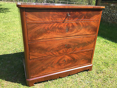 Antique 19th Century Walnut French Chest Of Drawers