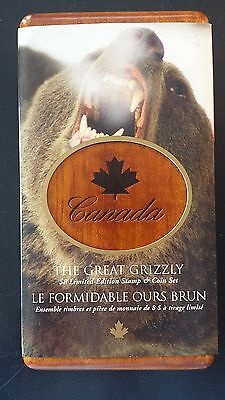 Canada 2004 $8 Great Grizzly Limited-Edition Stamp & Proof Silver Coin Set