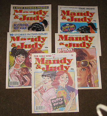 Mandy & Judy Comics – August 1992 x 5 (Nos 64-68) Like Bunty
