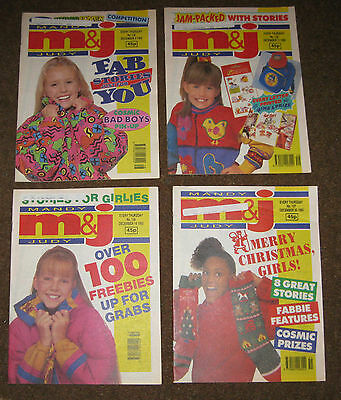 Mandy & Judy (M&J) Comics – December 1993 x 4 (Nos 134-137) Like Bunty