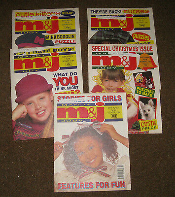 Mandy & Judy (M&J) Comics – December 1994 x 5 (Nos 186-190) Like Bunty