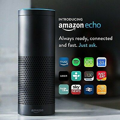 Certified Refurbished Amazon Echo, Black