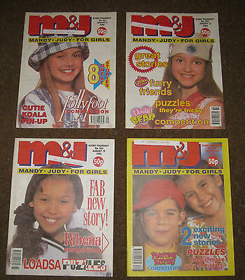 Mandy & Judy (M&J) Comics – August 1995 x 4 (Nos 221-224) Like Bunty