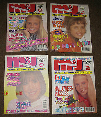 Mandy & Judy (M&J) Comics – October 1995 x 4 (Nos 230-233) Like Bunty