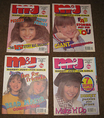 Mandy & Judy (M&J) Comics – November 1995 x 4 (Nos 234-237) Like Bunty