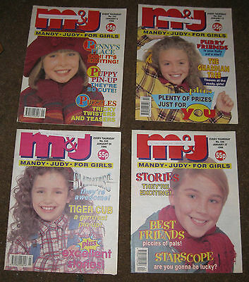 Mandy & Judy (M&J) Comics – January 1996 x 4 (Nos 243-246) Like Bunty