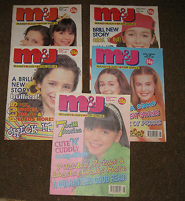 Mandy & Judy (M&J) Comics – June 1996 x 5 (Nos 264-268) Like Bunty