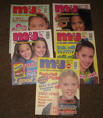 Mandy & Judy (M&J) Comics – March 1997 x 5 (Nos 303-307) Like Bunty