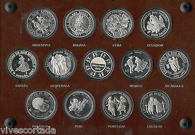 3 4th / 3rd Series Ibero-american 12 values in silver 1997 @ Dances and Suits