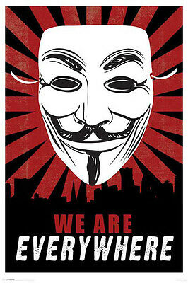 V FOR VENDETTA POSTER (61x91cm) WE ARE EVERYWHERE PICTURE PRINT NEW