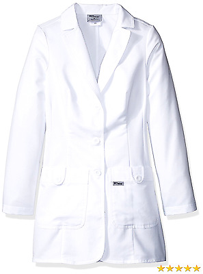 Grey's Anatomy Women's 32 Inch Two Pocket Fitted Lab Coat, White, 4X-Large