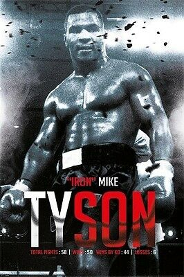 MIKE TYSON BOXING RECORD POSTER (61x91cm)  PICTURE PRINT NEW ART