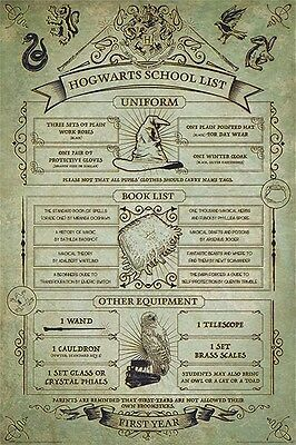 HARRY POTTER POSTER (61x91cm) HOGWARTS SCHOOL LIST PICTURE PRINT NEW