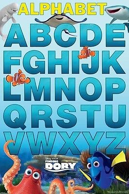 FINDING DORY ABC POSTER (61x91cm) EDUCATIONAL PICTURE PRINT NEW ART