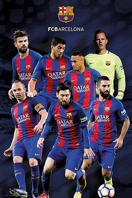 Fcb Barcelona Team POSTER (61x91cm) Picture Print New Art