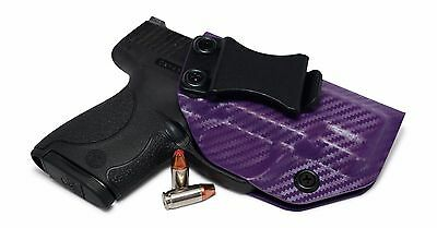 Carbon Fiber Purple IWB Kydex Holster CCW Concealed Carry Inside Waistband