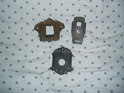 3 X VINTAGE TUBE RADIO DIALING FACE PLATE 1920s AND 1930s STAMPED METAL
