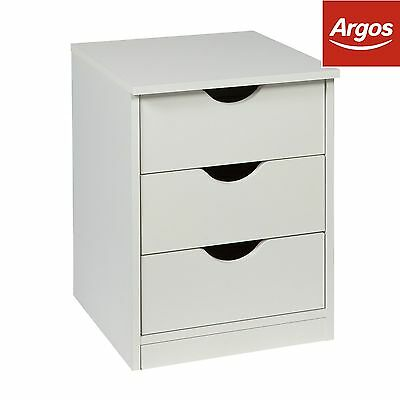 HOME New Pagnell Bedside Chest - White. From the Official Argos Shop on ebay