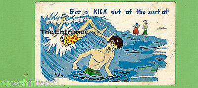 #N.  Australiana  Postcard - Surf At The Entrance, Nsw