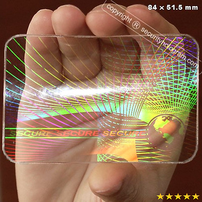 6 ID Cards Security Hologram Overlay Stickers with Micro Secure Technology SHID