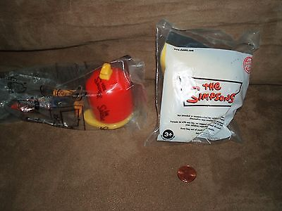 2 NEW In Package SIMPSONS BURGER KING Toys: HOMER 2013 & BART 2008