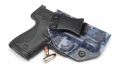 Navy Digital Camo IWB Kydex Holster CCW Concealed Carry Concealment Blue