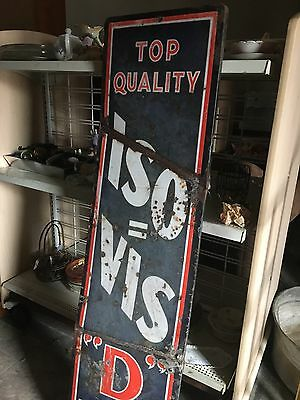 "Rare Top Quality ISO=VIS ""D"" Motor Oil Sign 16"" x 60"" Authentic"