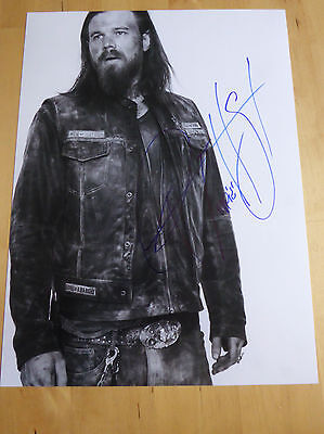 RYAN HURST opie Sons of Anarchy In Person Original Signed Autograph 12x16 Photo1