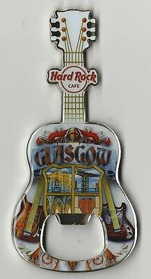 Flaschenöffner Bottle Opener Magnet Hard Rock Cafe Glasgow V13 NEU