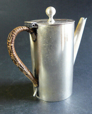 Antique ALEXANDER CLARK COMPANY Silver Plate Woven Handle Milk/Hot Water Jug